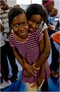 Two Teen Leaders at Francistown Teen Club. Photo courtesy of Jason Keenan.