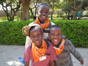 A group of boy campers from the orange group at Camp Hope.  Photo courtesy of Kim Mehta.